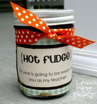 Back to school Hot fudge teacher gifts. Yum!