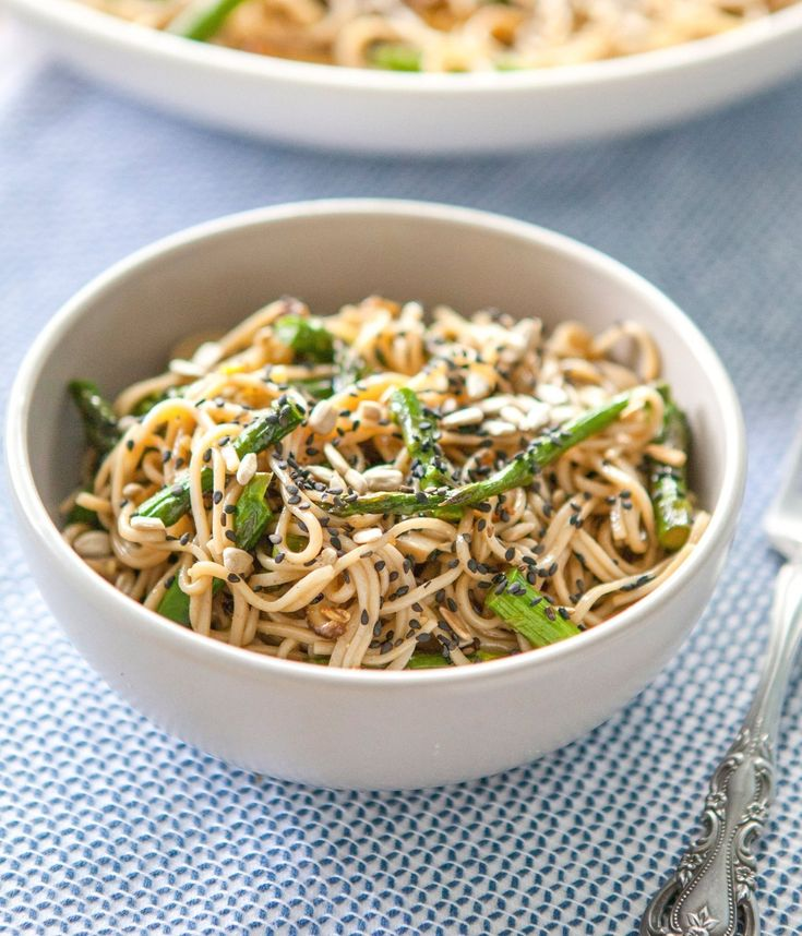 Recipe: Miso-Roasted Asparagus Soba Noodle Salad Healthy Lunch Recipes ...