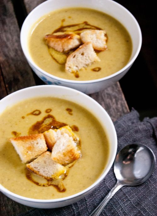 Green Lentil Soup With Curried Brown Butter Recipe — Dishmaps