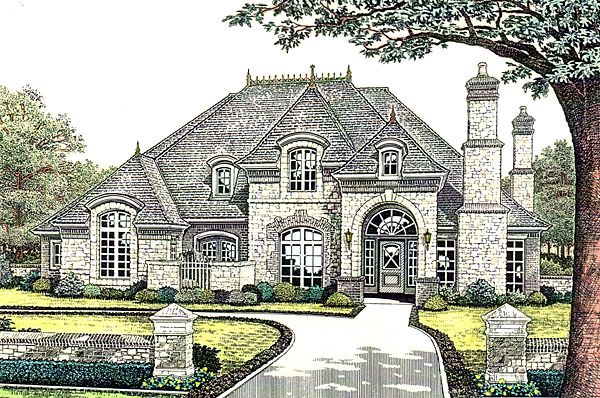 European French Country House Plan 66245