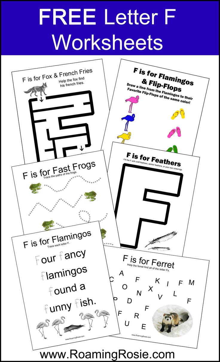 Free letter worksheets for preschoolers