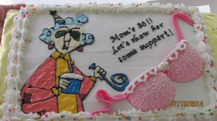 Mom's 80th birthday cake | party planning checklist | Pinterest
