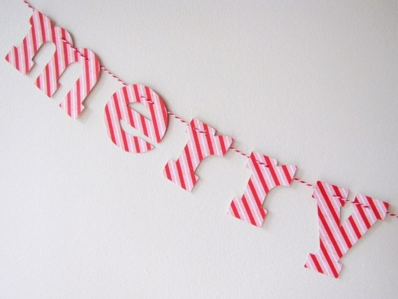 letter garland paper things pinterest With letter garland