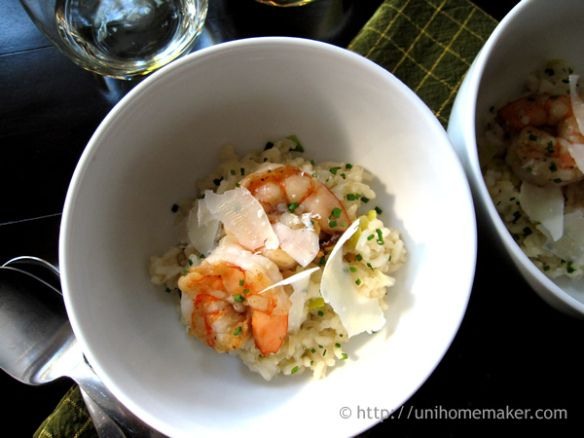 Shrimp Leek and Prosecco Risotto | fruits de mer | Pinterest