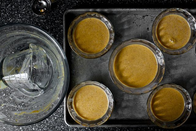 baked pumpkin and sour cream puddings | recipes | Pinterest