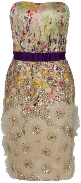 Carolina Herrera Strapless Floral Dress :-O