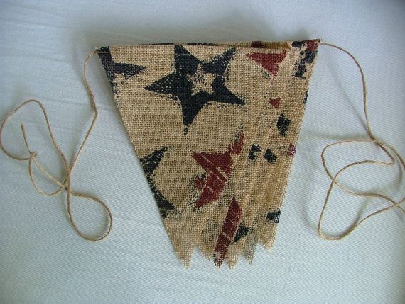 4th of july burlap decorations