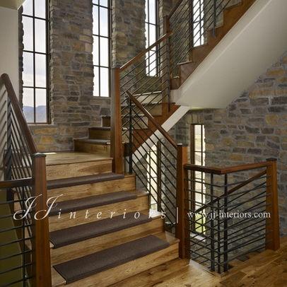Basement Stairs Railing Dream Home Pinterest