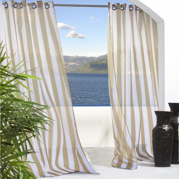 Each curtain s upper edge for slipping over a stationary curtain rod