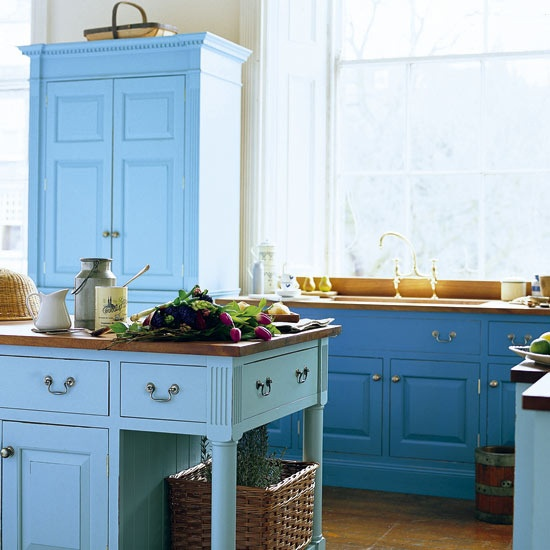 light and bright blue  Kitchen Ideas  Pinterest