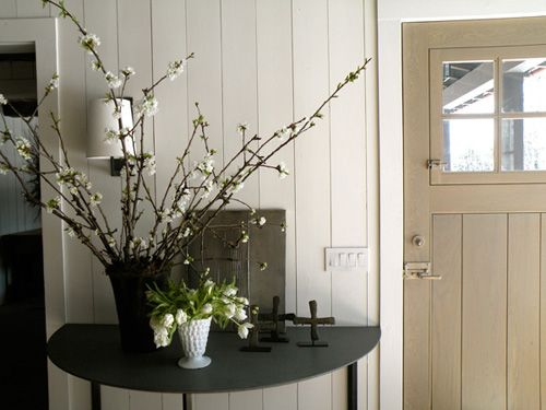 Wood paneling painted white paint colors i like pinterest for Wood paneling painted white