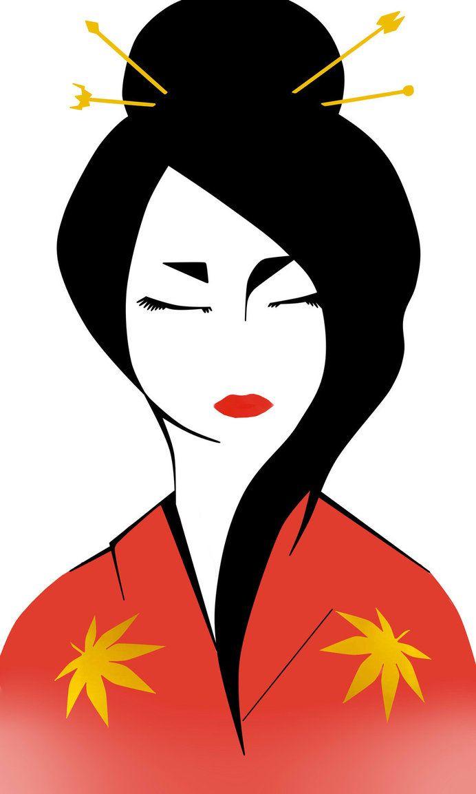 Geisha Draw Project Pinterest