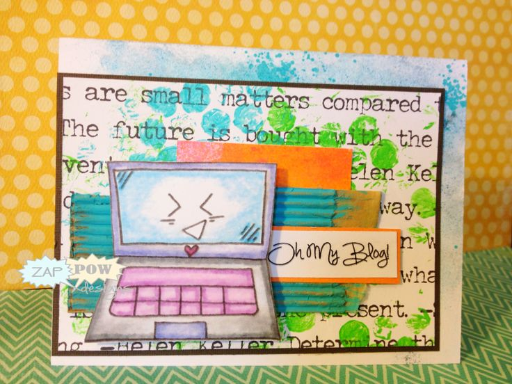 Oh...My,,,BLOG!?!?! We LOVE this card~