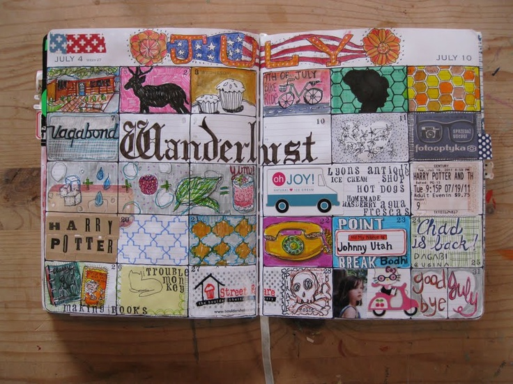 Grid journaling, by jessica goodson