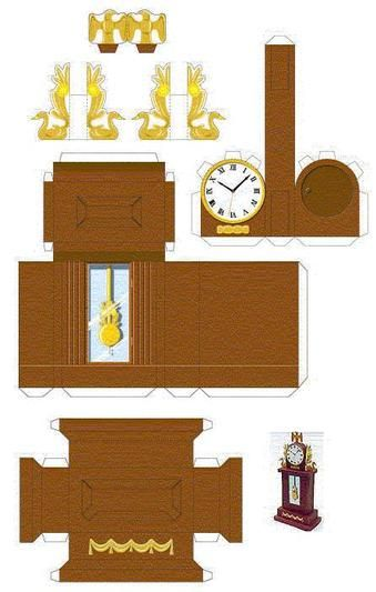 Миниатюра для кукол своими руками из бумаги и картона 42