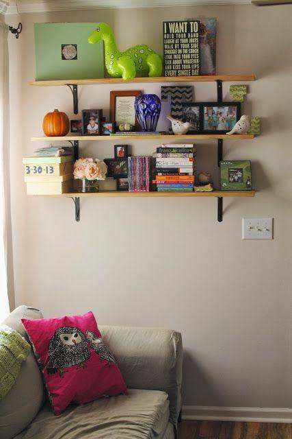 Love living room open shelving spaces to live pinterest for Open shelves in living room
