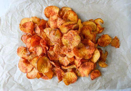Homemade BBQ Sweet Potato Chips | Food | Pinterest
