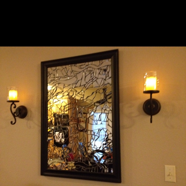 broken glass mirror made by aunt debbie for the home