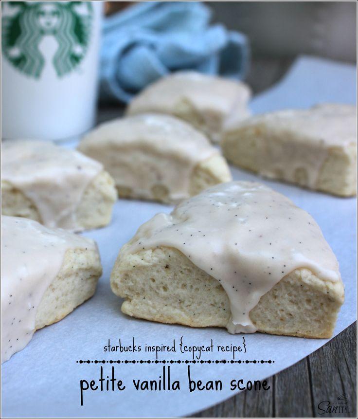 Petite Vanilla Bean Scones | Starbucks Inspired (Copycat | Recipe