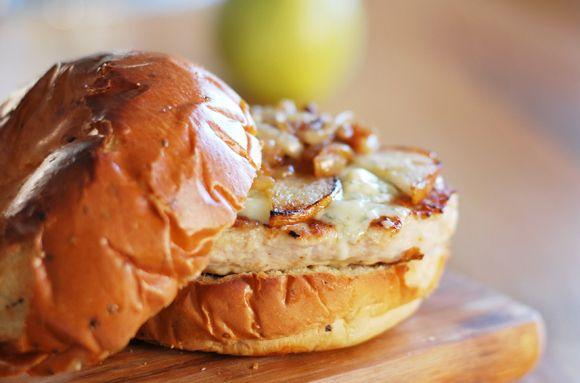 Roasted Pear & Gorgonzola Turkey Burger | Food & Recipes | Pinterest
