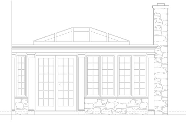 Conservatory Orangery Cad Drawing Garden Outdoor