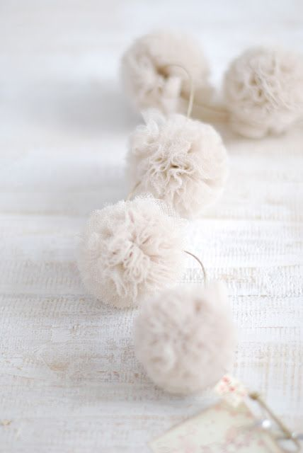 Coffee filter pompom garland for the tree?!