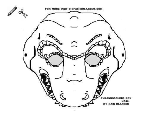 Dinosaur Masks To Print