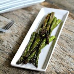 Simple Roasted Asparagus - I added minced garlic to mine. Yum!!!