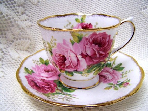One of my favorites!  Pattern:  American Beauty by Royal Albert