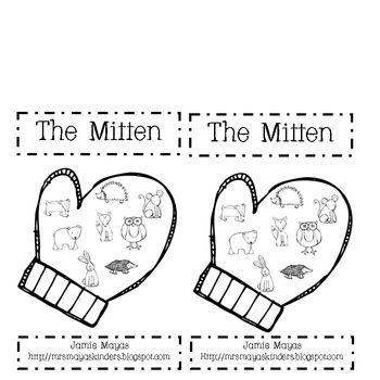 The Mitten Emergent Reader TPT Free