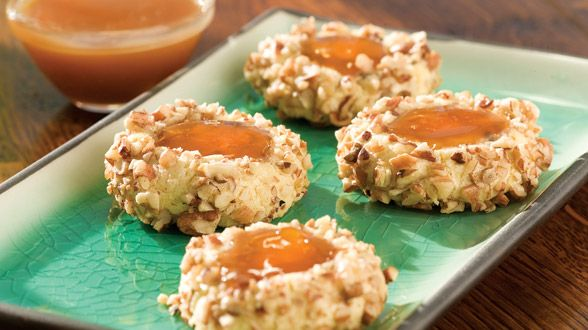Caramel Apricot Thumbprints! | Guilty Pleasures | Pinterest