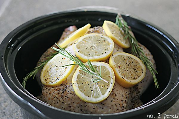 Slow Cooker Lemon Garlic Chicken - for when it's too hot to cook, then ...
