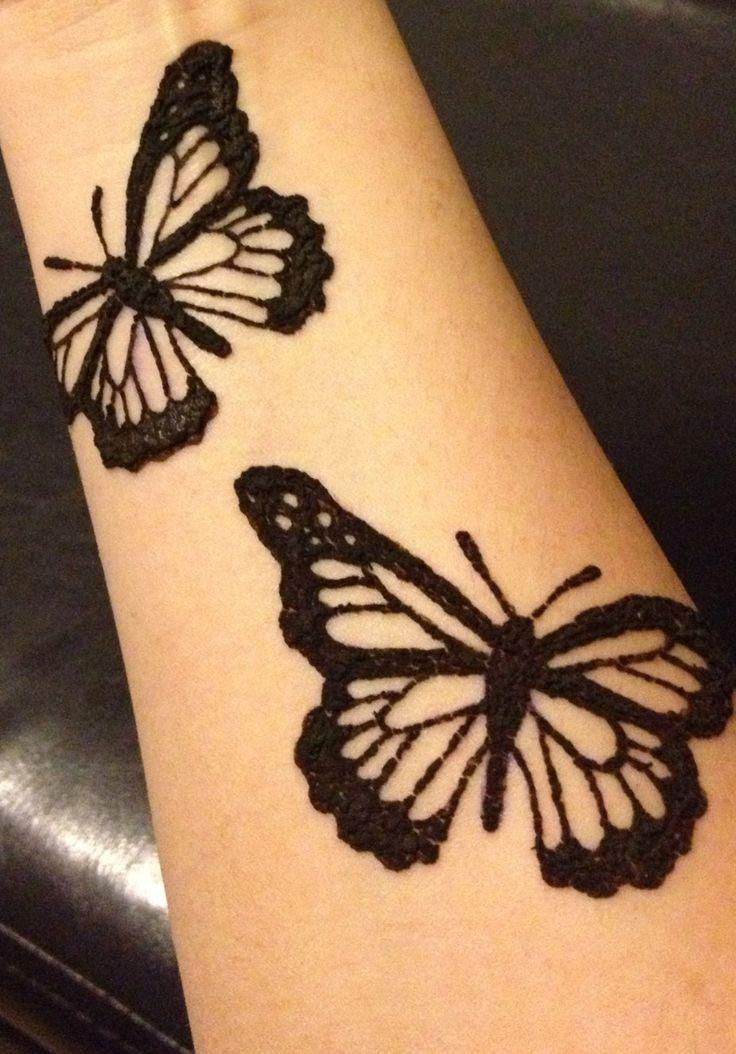 Mehndi Tattoo Butterfly : Henna butterfly tattoo pinterest