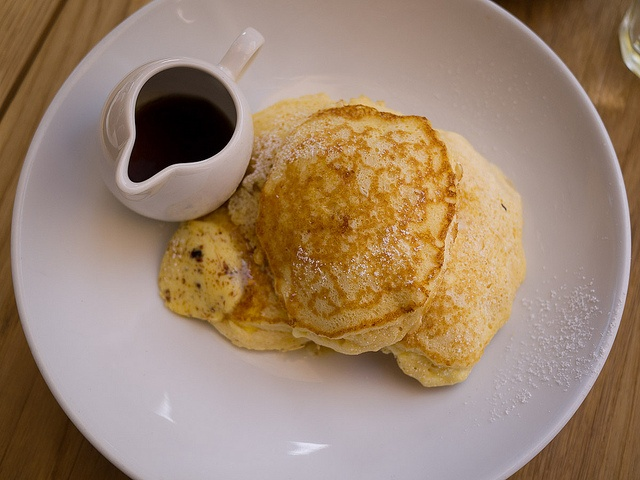 ... ricotta hotcakes with honeycomb butter and maple syrup, in Sydney