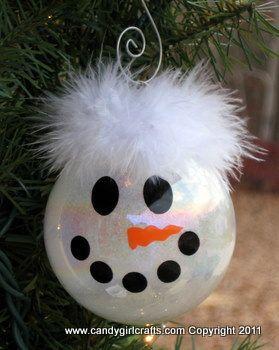 Glitter Ornaments - Snowman