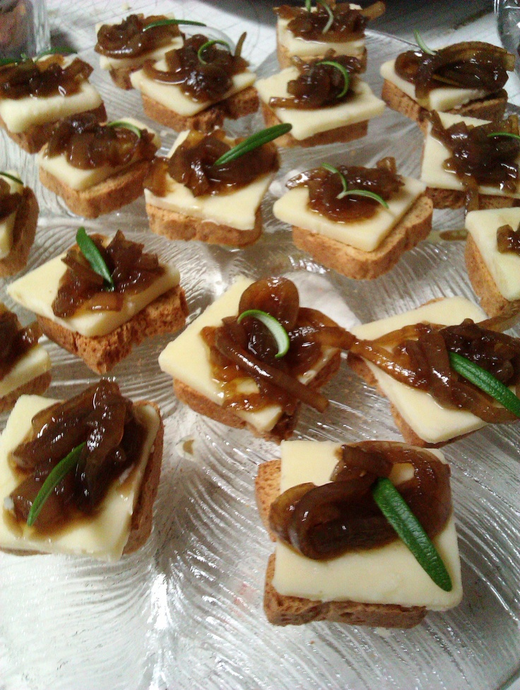 Onion Rosemary Confiturra on Old Cheddar - From http://www.seriouseats ...
