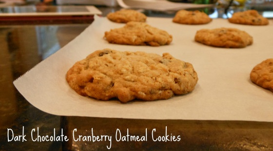 dark chocolate cranberry oatmeal cookies | Recipes | Pinterest