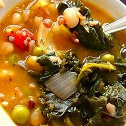 White Bean, Kale and Roasted Vegetable Soup Recipe