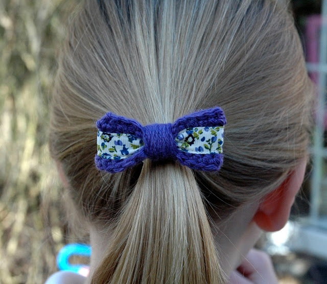 Crochet Ponytail : Crocheted ponytail holder