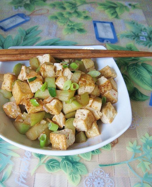 Spicy Tofu and Chayote Stir-Fry 辣炒豆腐 ~ Teczcape-An Escape to ...