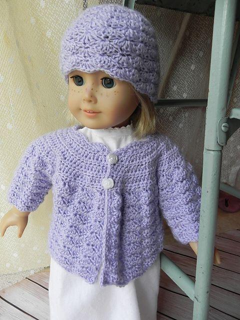 Crochet Pattern Doll Sweater : 15 Doll Crochet Sweater Pattern - Long Sweater Jacket