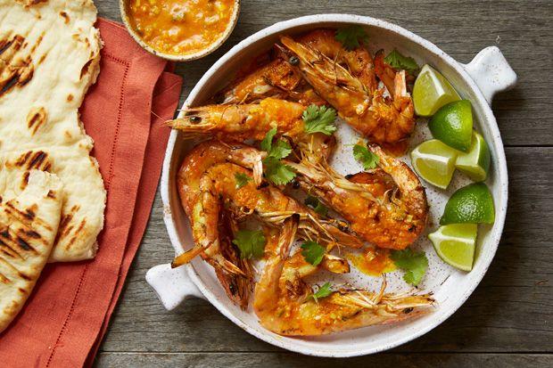 Grilled Butterflied Prawns with Sriracha-Lemongrass Butter | Recipe