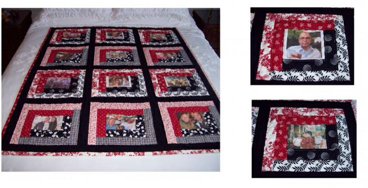 How to Make a Photo Memory Quilt images