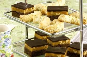 Rachel Allen's chocolate and hazelnut caramel bars and they are wicked ...