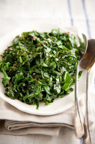Paula Deen Quick Collard Green Saute