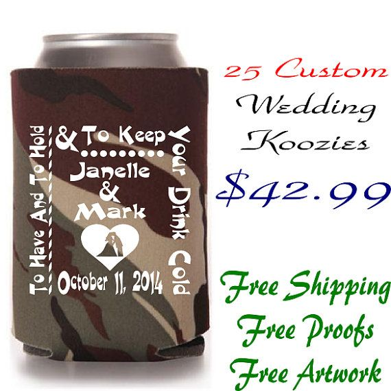 To Have And To Hold Can Koozie Wedding Favors Marilyn S Keepsakes