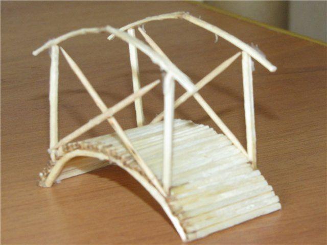 Поделка мостик из спичек 41