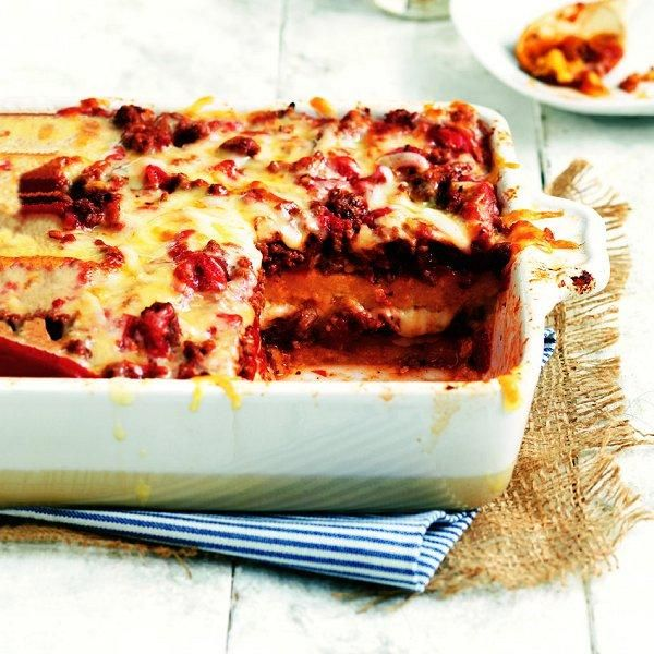 "Polenta Lasagna! I think that this would made a great winter ""dine in ..."