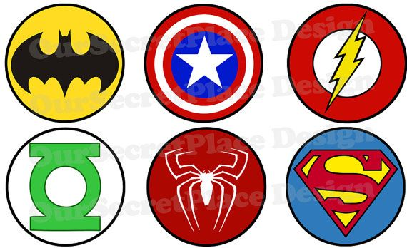 Large ANY SIZE PRINTABLE Superhero Logo for by ...