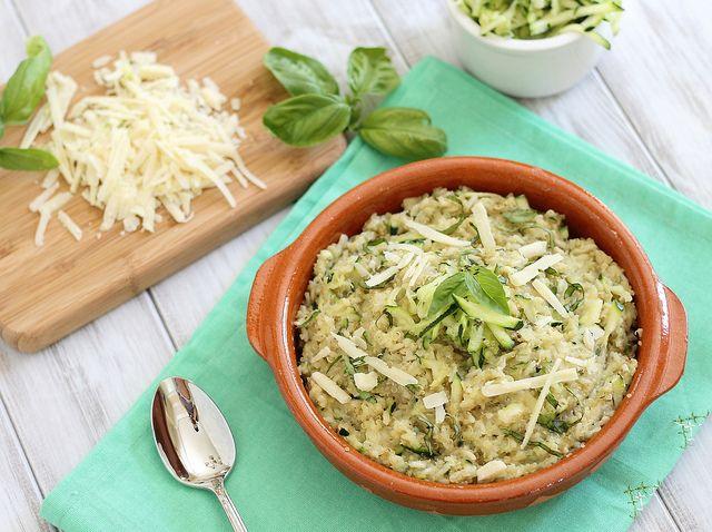 cheesy zucchini quinoa from Running to the Kitchen